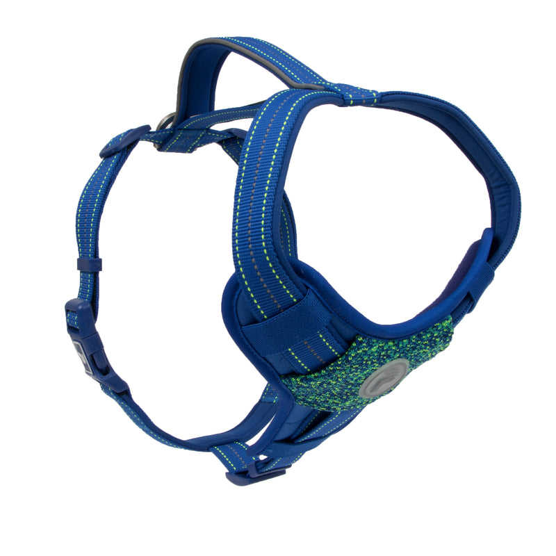 Picture of Pathfinder Harness in Color Blue Wave by Pup Crew Pro for Mission Pets, from Harness