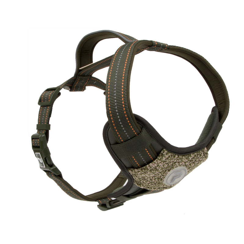 Picture of Pathfinder Harness in Color Olive Shade by Pup Crew Pro for Mission Pets, from Harness