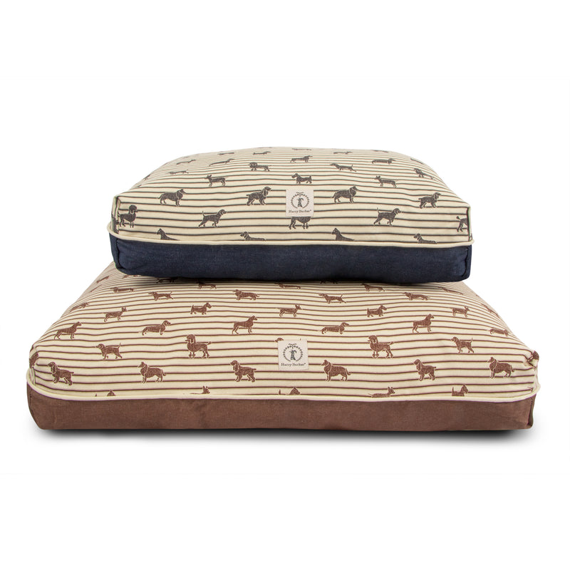Ticking Rectangle Dog Bed Cover