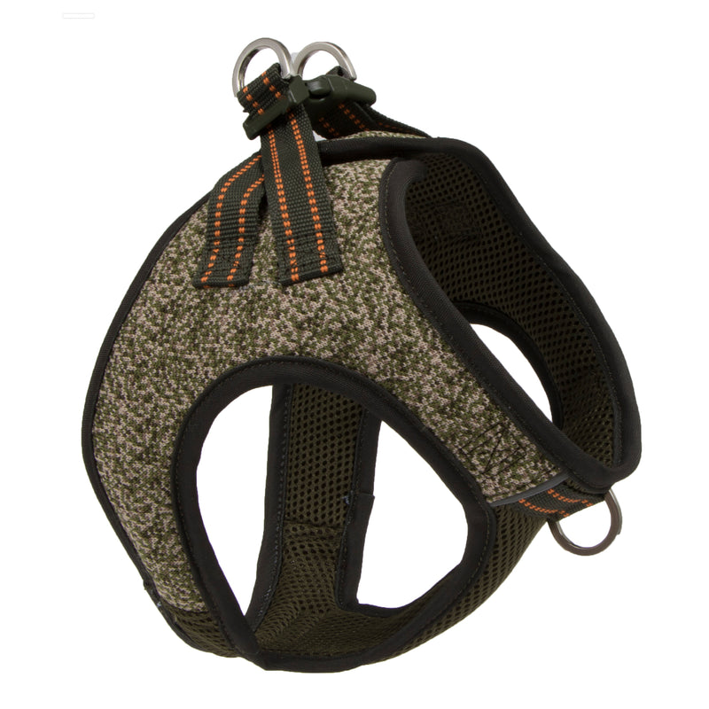 Picture of Flex Knit™ Vest Harness in Color Olive Shade by Pup Crew Pro for Mission Pets, from Harness
