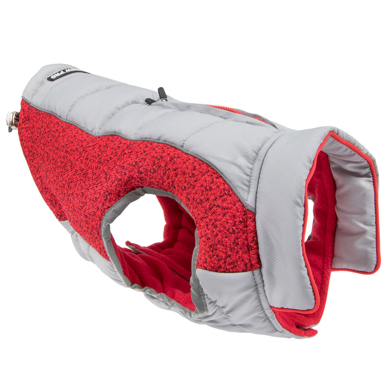 Picture of Daybreak Jacket in Color Rapid Red by Pup Crew Pro for Mission Pets, from Jacket