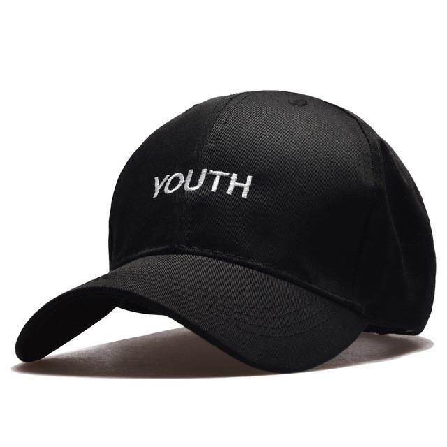 Black YOUTH dad cap Men and Women