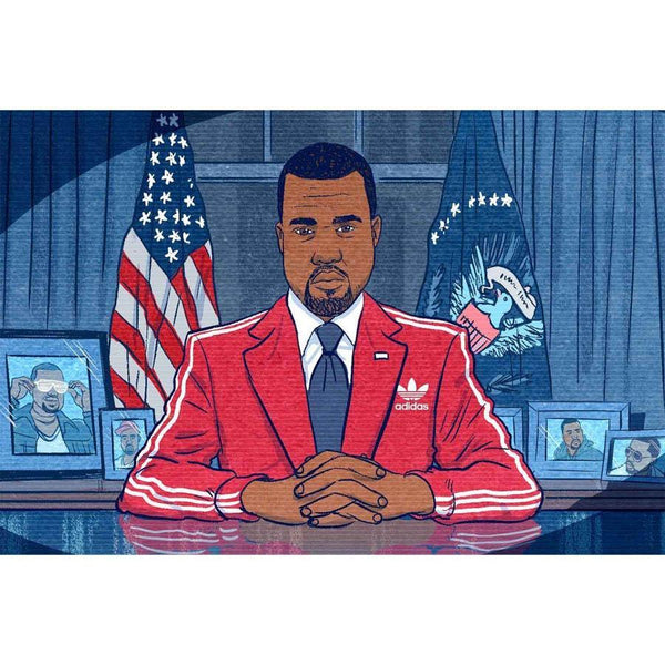 Kanye West for President 2020 Canvas Painting