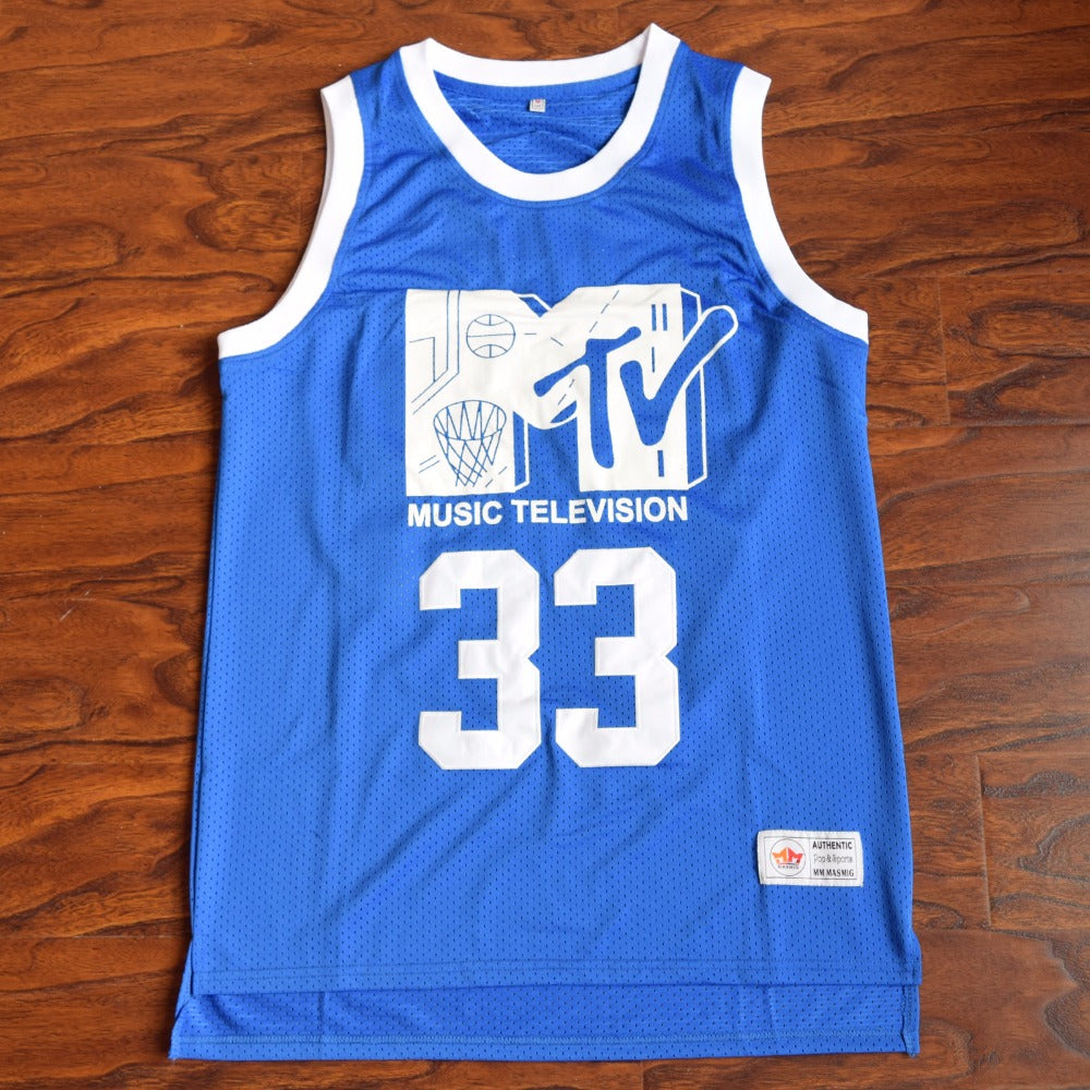 1b395d174d2 Will Smith #33 MTV Music Television Basketball Jersey Stitched Blue ...