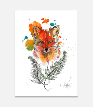 Fox and Fern - Bells Fine Art