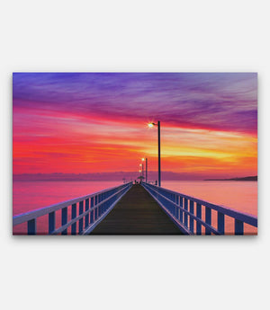 Sunset Pier - Bells Fine Art