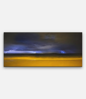 Point Lonsdale Front Beach, Portsea Lightning Background - Bells Fine Art