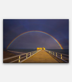 Queenscliff pier Rainbow - Bells Fine Art