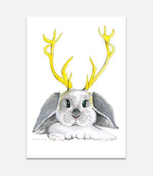 Grey Jackalope - Bells Fine Art