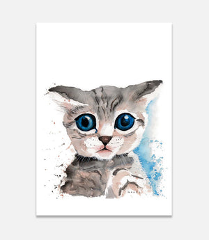 Grey Kitty - Bells Fine Art