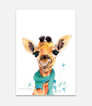 Giraffe in a Scarf - Bells Fine Art
