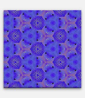 Fibonacci Repeating Pattern Blue and Yellow - Bells Fine Art