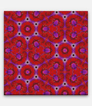 Fibonacci Repeating Pattern Red and Purple A - Bells Fine Art