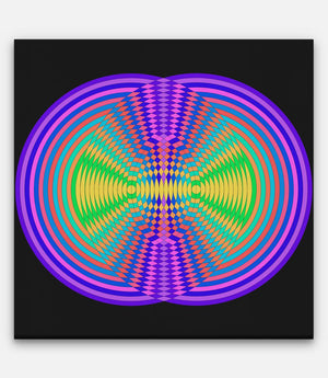 Circle Colour Grids Frequency Collision - Bells Fine Art