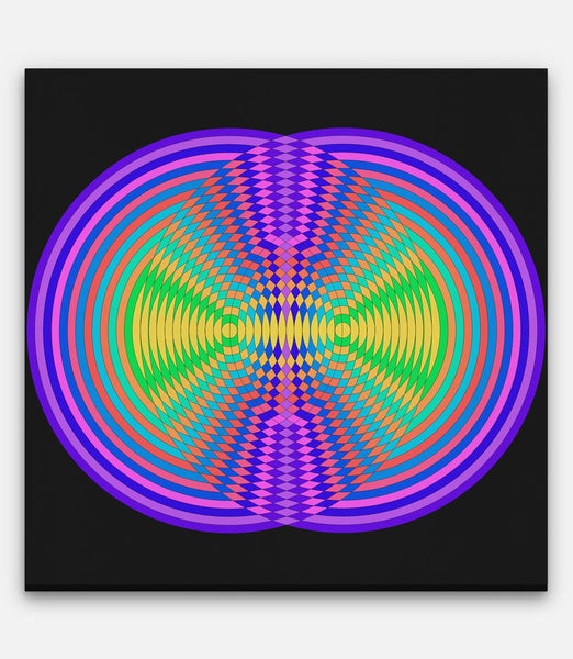 Circle Colour Grids Frequency Collision