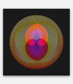 Fibonacci Colored Grid Impregnated - Bells Fine Art
