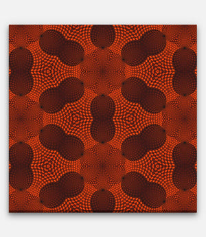 Fibonacci Colored Grid Repeating Pattern Red and Black A - Bells Fine Art