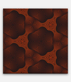 Fibonacci Colored Grid Repeating Pattern Red and Black B - Bells Fine Art
