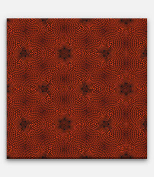 Fibonacci Colored Grid Repeating Pattern Red and Black C - Bells Fine Art