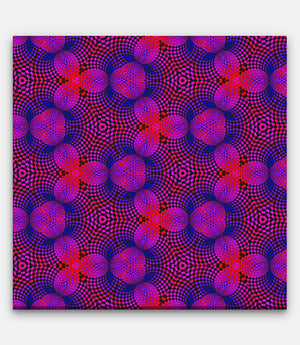Fibonacci Colored Repeating Pattern Red, Blue and Purple - Bells Fine Art