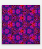 Fibonacci Colored Repeating Pattern Red, Blue and Purple