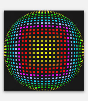 Grid of Sphere Colored - Bells Fine Art
