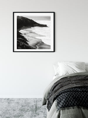 Bells Beach Black and White - Bells Fine Art