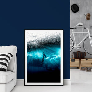 Teahupo'o submerged - Bells Fine Art