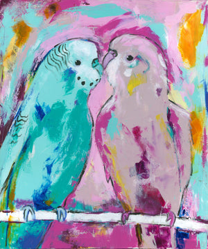 Budgie pair - Bells Fine Art