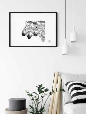 Zebra Trio - Bells Fine Art