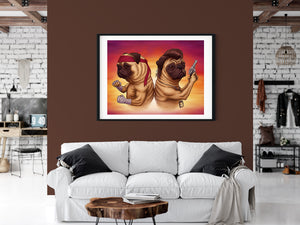 Tough Pugs | Limited Edition - Bells Fine Art