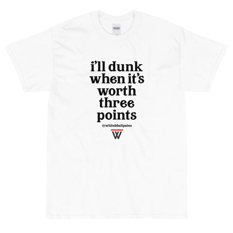 The #WhiteBballPains T-Shirt Front
