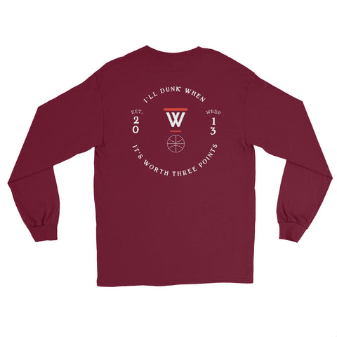 #WhiteBballPains Circle Logo Long Sleeve