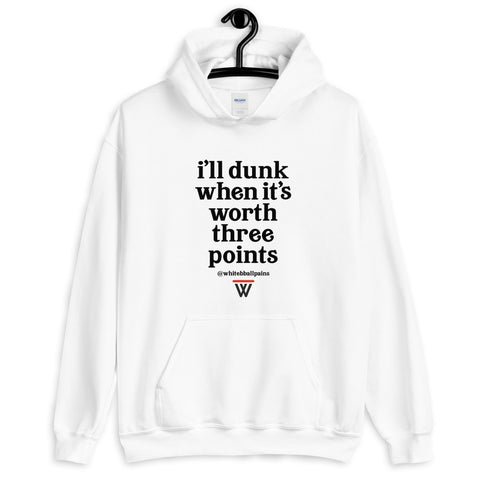 The #WhiteBballPains Hoodie Front Only