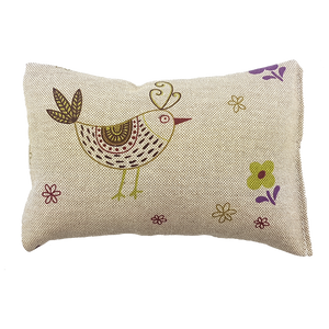 Plush Valerian Scented Pillow - Festive Birds