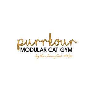 The Lazy Cat Purrkour modular cat Gym Suction Mounted Australia window shelf perch hammock