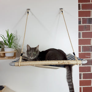 The Lazy Cat Laze About wall mounted hammock bed perch