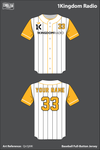 1Kingdom Radio Full Button Baseball Jersey - Qn5jMK