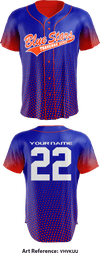 Traverse City Blue Stars Store 1 Full Button Baseball Jersey - VhVkUu