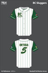 BC Sluggers Full Button Baseball Jersey - xBrDcu