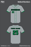 Ballard Memorial High School Bombers Full Button Softball Jersey - cs2Q3w