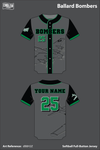 Ballard Memorial High School Bombers Full Button Softball Jersey - dB8H2Z