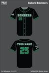 Ballard Memorial High School Bombers Full Button Softball Jersey - kmuDXK