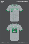 Ballard Memorial High School Bombers Full Button Softball Jersey - wNK6js