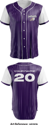 Barney's Full Button Baseball Jersey - uGY6y8