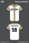 Bay Area Bombers Full Button Baseball Jersey - BFAqtW