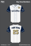 Bay Area Bombers Full Button Baseball Jersey - c73KRN