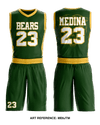 Bears01 Reversible Basketball Uniform - mE6JTM & RFgTVZ