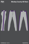 Bleckley County All-Stars Baseball Pants - VSgFbm
