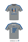 Blue Elite Angels Short-Sleeve Hybrid Performance Shirt - tEsU5T